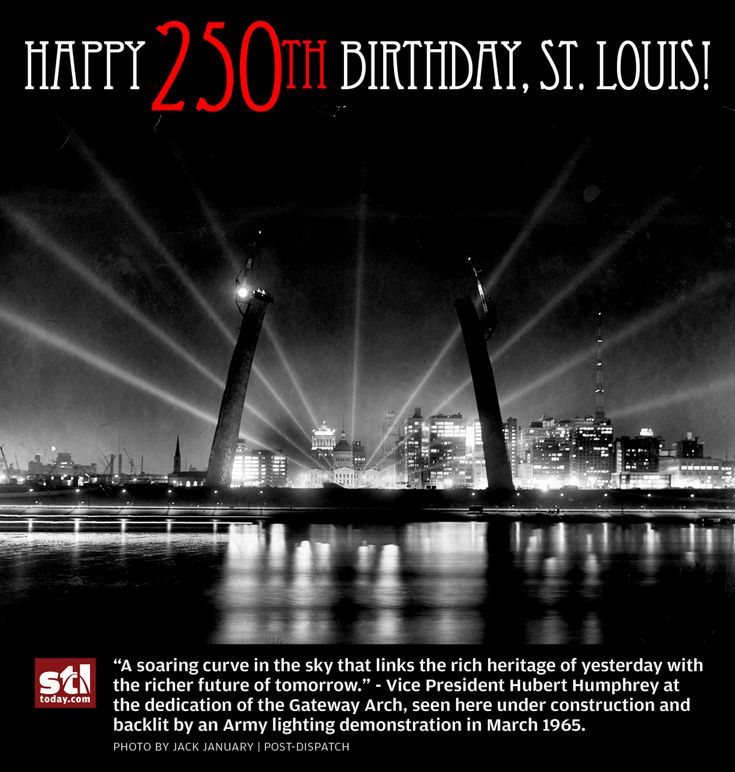 HAPPY BIRTHDAY, ST. LOUIS!  See and share historic birthday cards for St. Louis' 250th birthday via stltoday.com #stl250