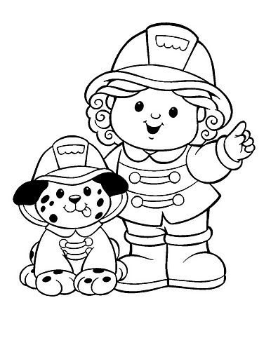 firefighter coloring pages preschool alphabet - photo#19