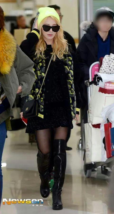 Hyo looking fab!#Airport Fashion