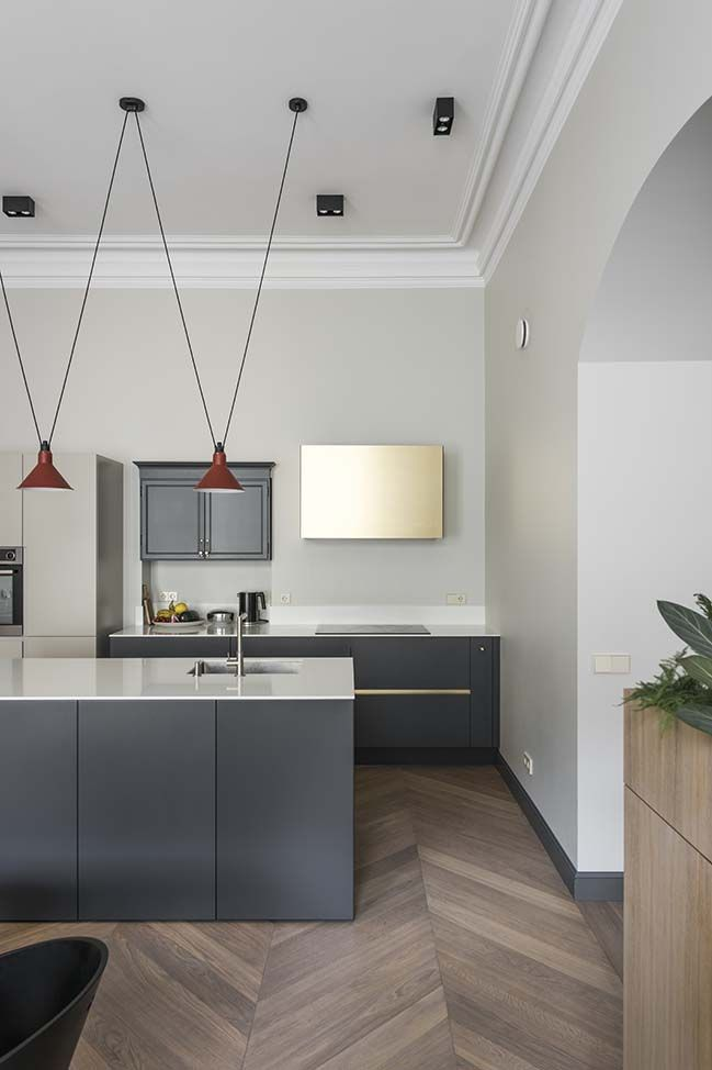 Apartment In Vilnius By Kristinapunde Modern Kitchen Design Luxury Kitchens Kitchen Design Color