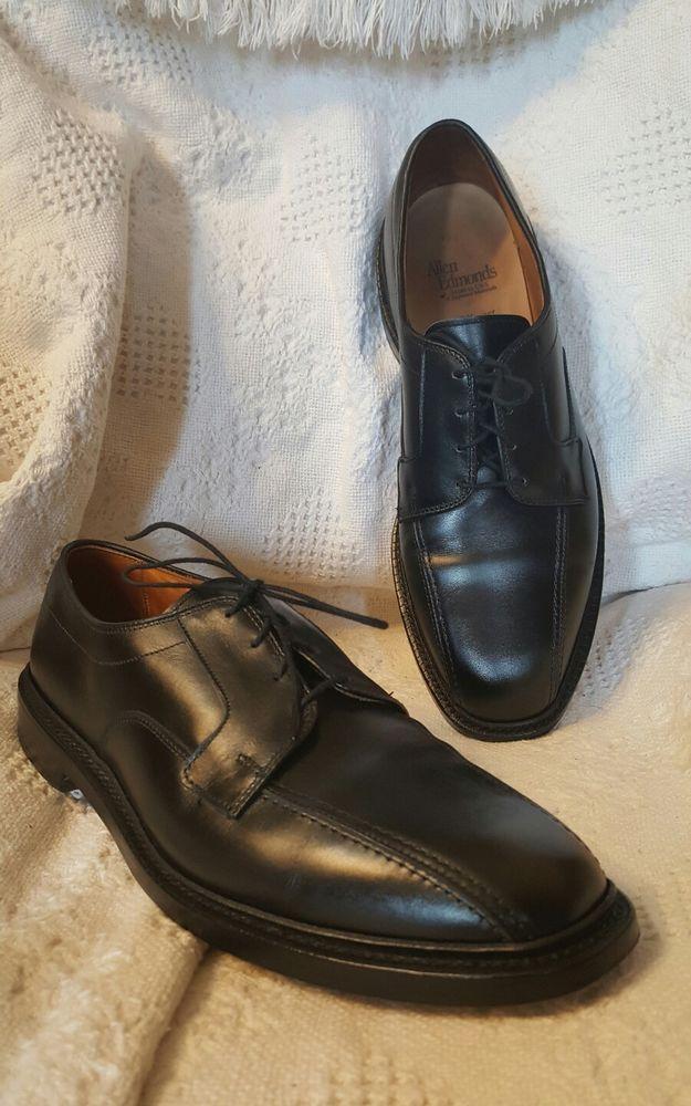 Allen Edmonds Hillcrest blucher oxfords sz 9.5 D black leather bicycle toe USA   Clothing, Shoes & Accessories, Men's Shoes, Dress/Formal   eBay!