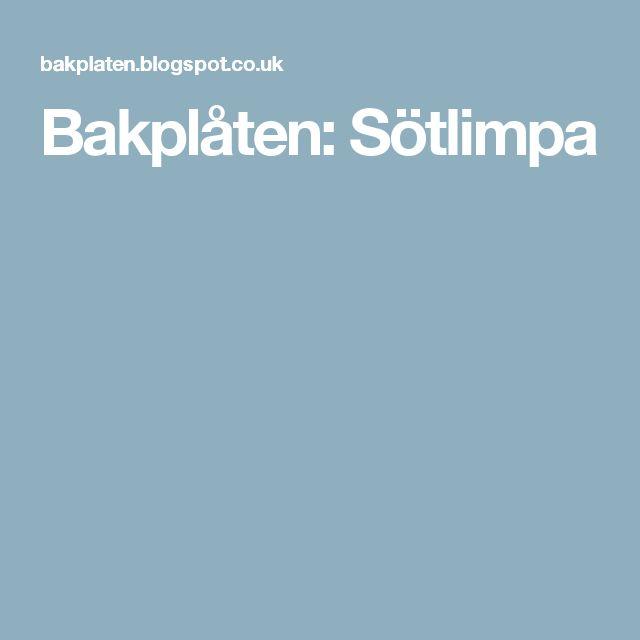 Bakplåten: Sötlimpa