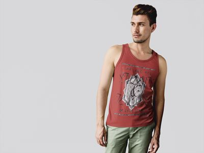 Students and Teachers Mens Red Tanktop