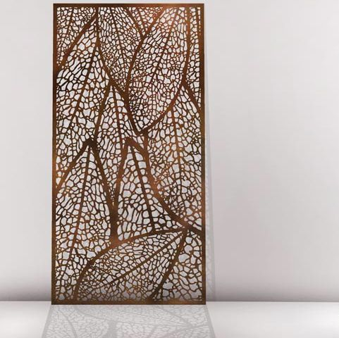 vuelta metal laser cut screens outdoor screens wall