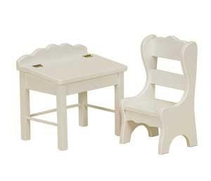 """American Made 18"""" Doll Desk and Chair It's time to teach! Select white or pink paint for this handmade desk set."""
