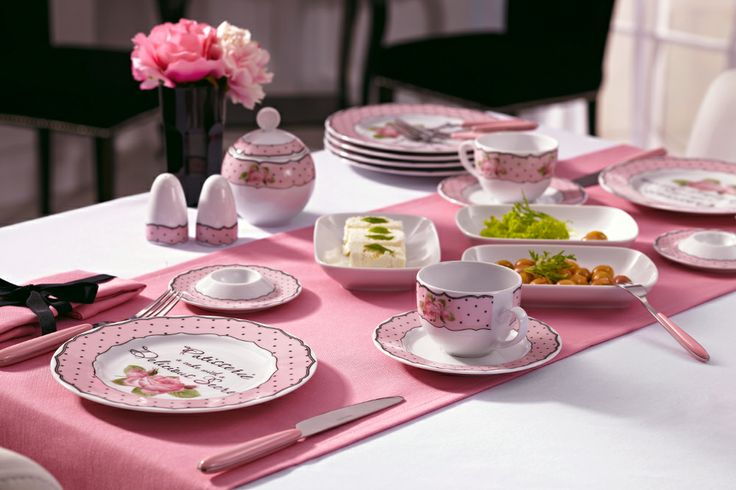 Bernardo Rosy Kahvaltı Takımı / Breakfast Set #bernardo #kitchen #mutfak #breakfasttime #pink #pembe
