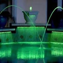 Lighted Pool Water Features