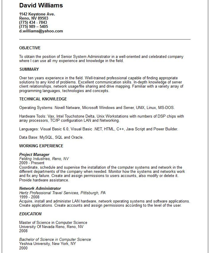 administrator resume example word pdf format find complete how microsoft