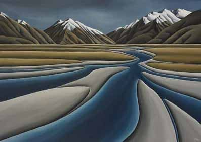 River's Journey by Diana Adams for Sale - New Zealand Art Prints