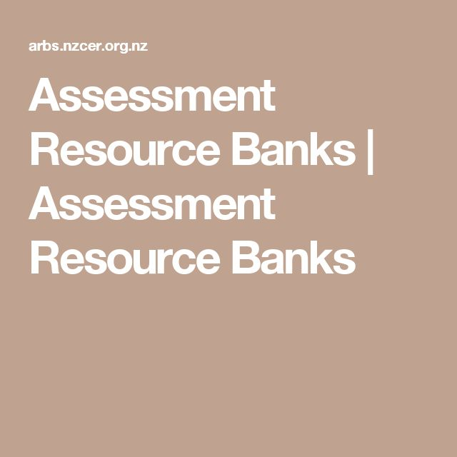 Assessment Resource Banks | Assessment Resource Banks