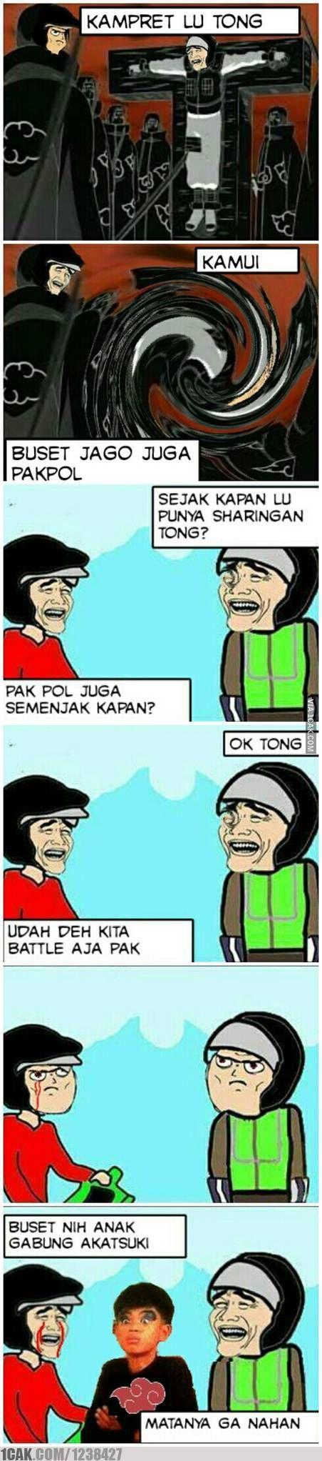 Petarungan Otong Dan Pakpol Meme Indonesia Lucu V V Pinterest
