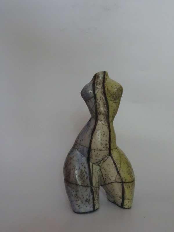 judith skulptur von michael braunig skulpturen keramik kunst bekannte abstrakte künstler bild grün abstrakt