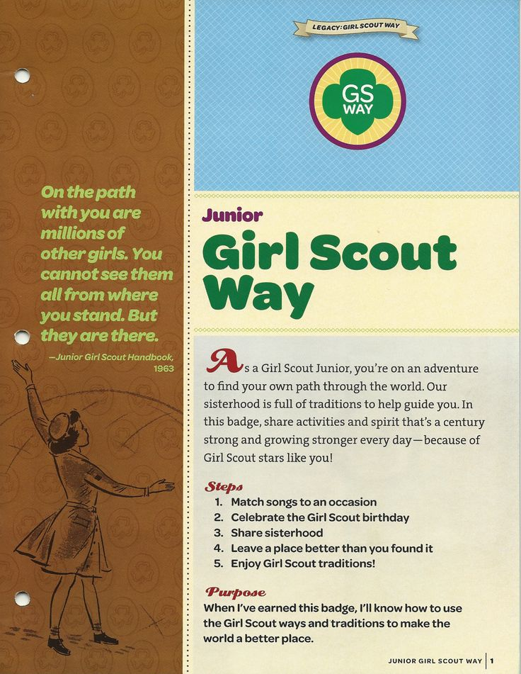 Girl Scout Way  Girl Scout Brownie Badges, Junior Girl -3783