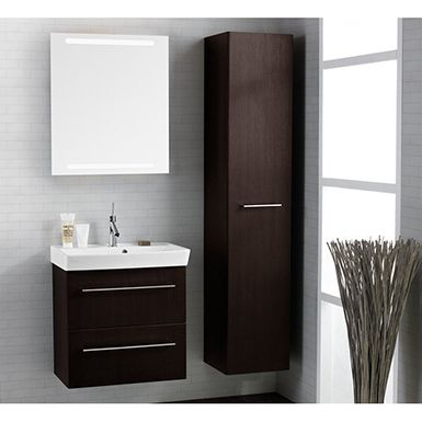 The slim depth of the washbasin and furniture makes Dansani Mido ideal for smaller bathrooms and shower rooms where space is a priority.