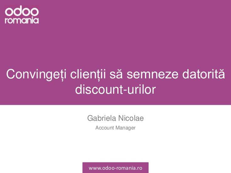Oferirea discount-urile este o metodă bună de a atrage clienții să cumpere de la dumneavoastră. De asemenea, aceste discount-uri pot fi aplicate clienților fideli, fie direct din ofertă, fie de pe factură, fie prin realizarea unei liste de prețuri de loialitate unde se setează un anumit discount.