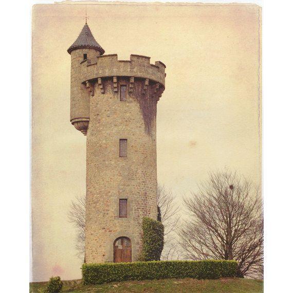 Enchanted Castle Tower, Photograph, Fairytale, France, via Etsy.