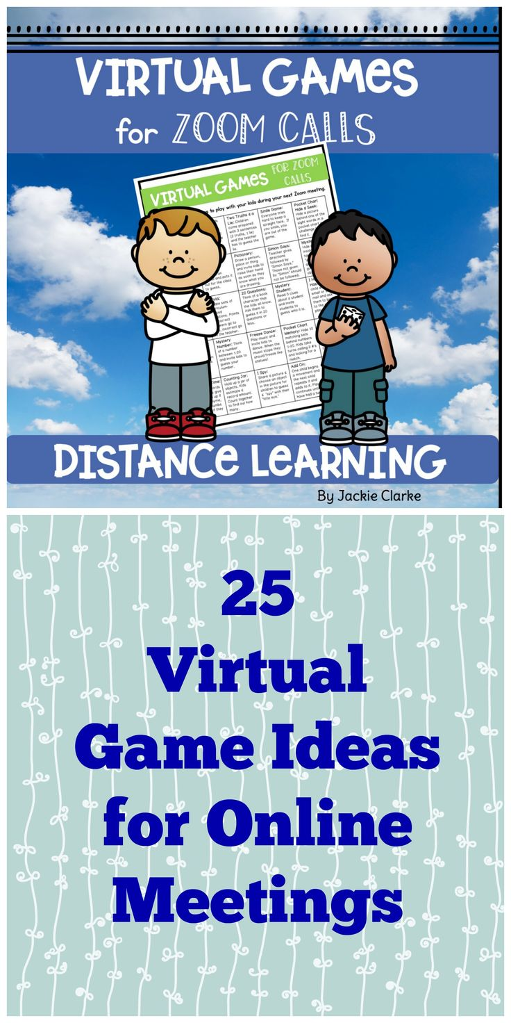 Virtual Games for Zoom Calls and Google Meetings