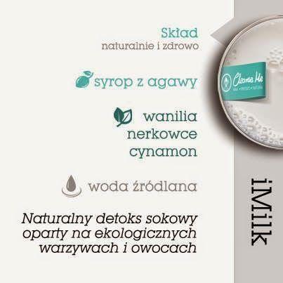 Zielone koktajle: iMILK = cynamon + agawa + mleko orzechowe + wanilia TERAZ 10% rabatu na stronie cleanseme.pl na kod: ZIELONEKOKTAJLE
