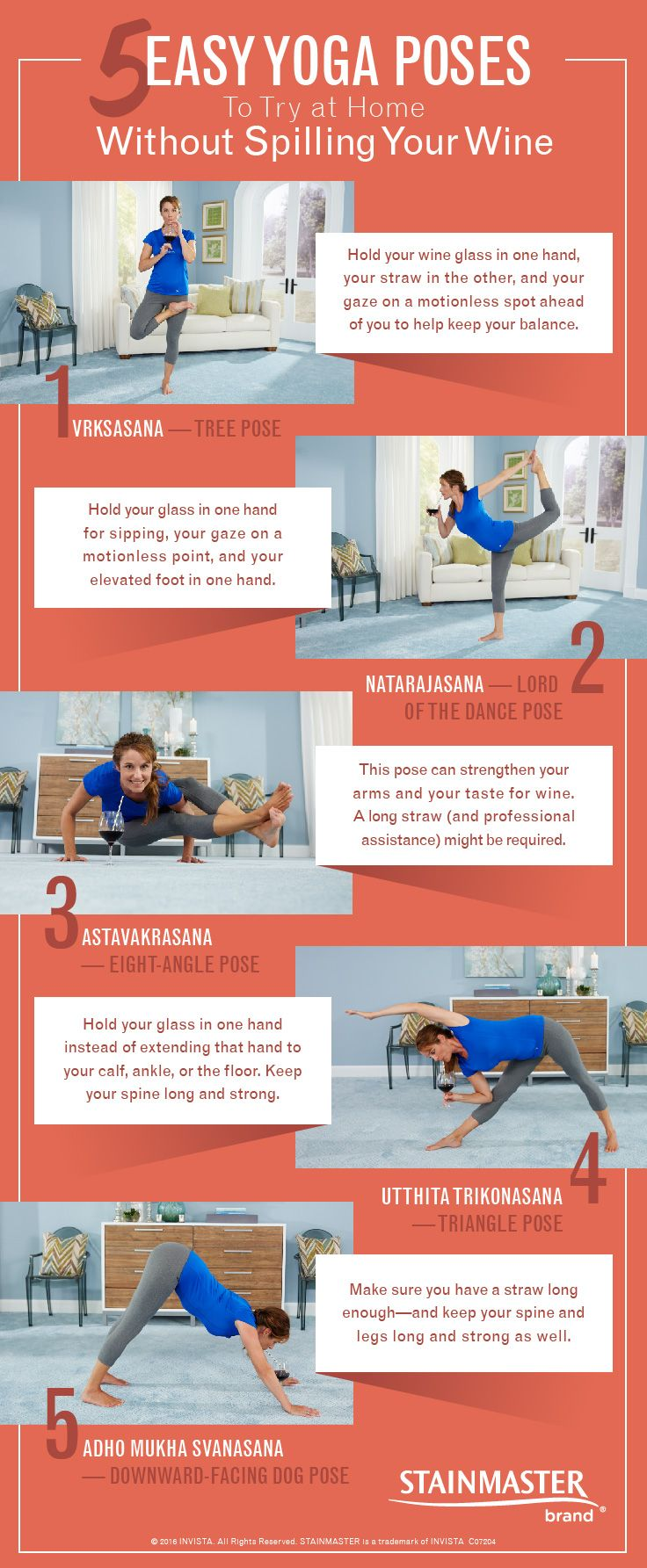 "Say ""Namaste,"" then hit the hay. Here's how to do some easy yoga poses at home so you can achieve inner peace in your place."