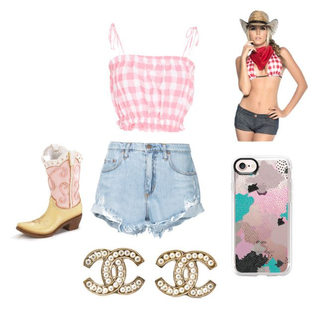 """""""Fake country girl"""" by mitchelle17 on Polyvore featuring Nobody Denim, Mapalé, MDS Stripes, Casetify, Chanel and country"""