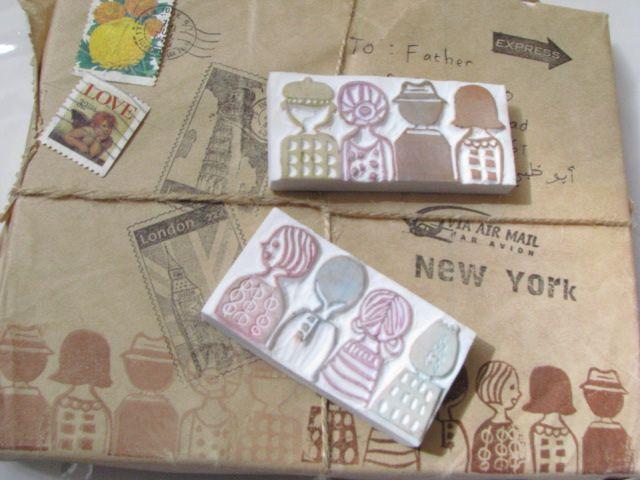 handcarved stamps by Stamp S.O.S. (flickr) #diy #handmade #crafts