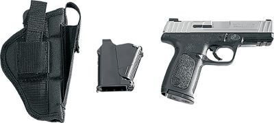 """The lightweight 22-oz. polymer frame, thin profile and 3.2"""" barrel make Taurus' PT111 Millenium G2 Pistol perfect for concealed carry. Package includes: handgun, Bulldog polymer holster and maglula UpLula™ pistol magazine loader."""