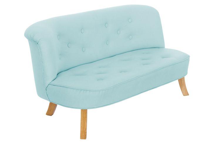 Kanapa dla dziecka, sofa dla dzieci - Len Błękitny - Somebunny