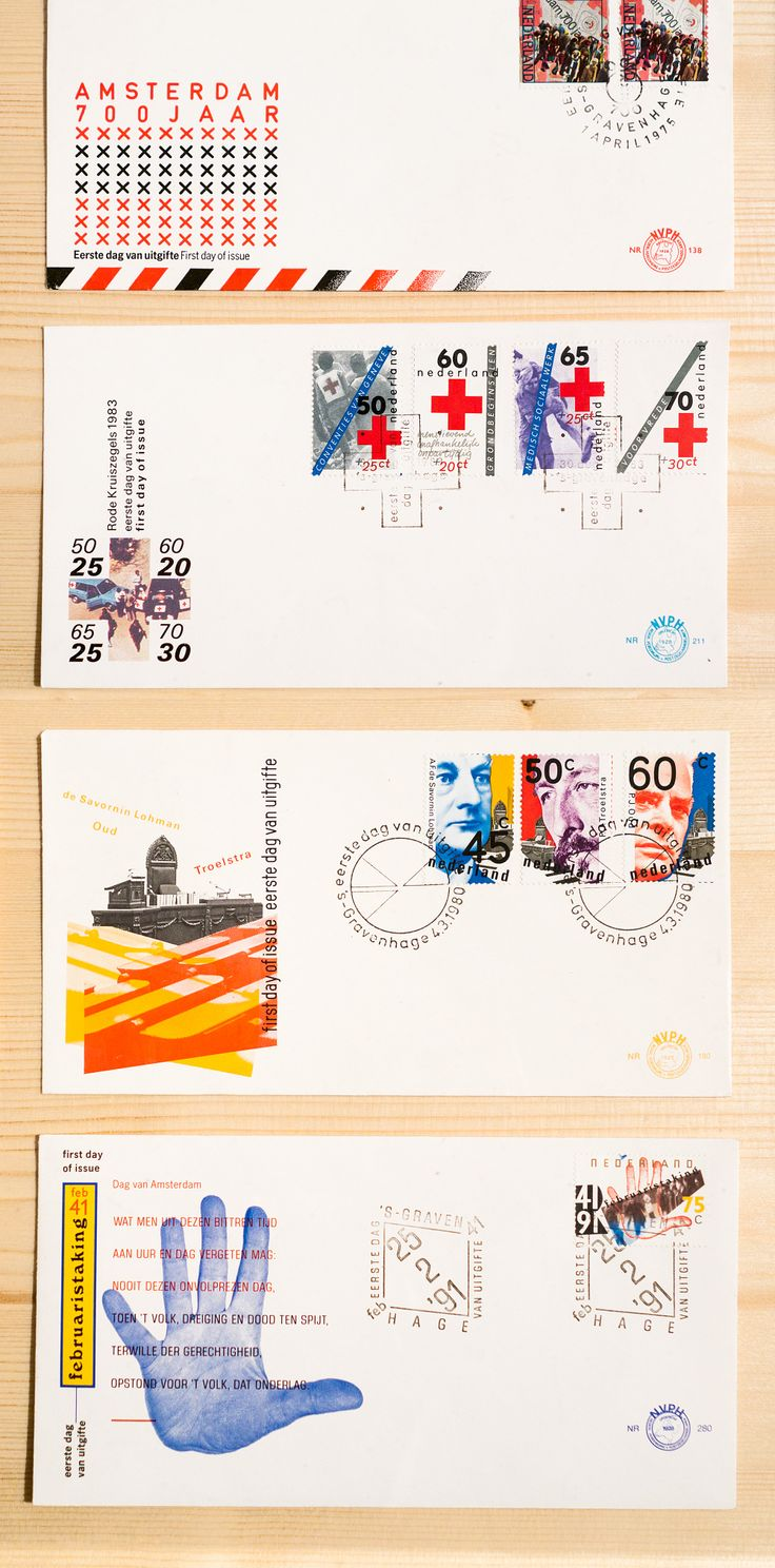 Postage stamps by Jan van Toorn