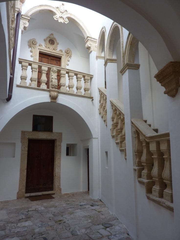 The atrium of a palazzo in Alessano, Lecce, Puglia