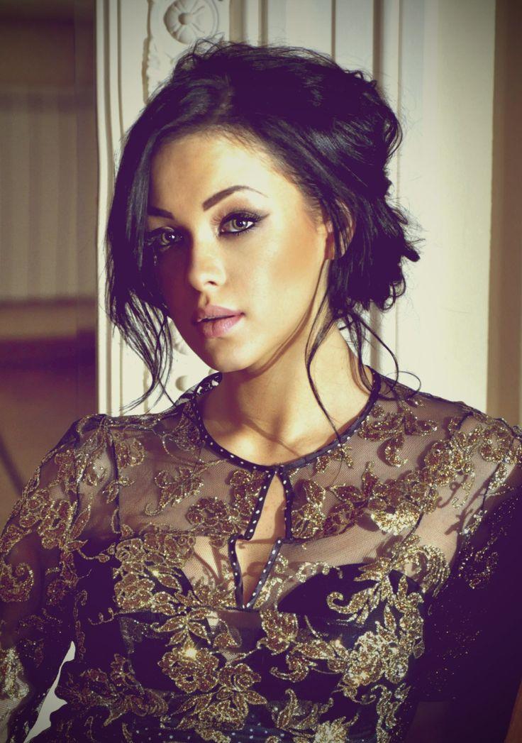 MARIYA YAREMCHUK- EUROVISION UKRAINE- Brown Hair in a Messy Bun