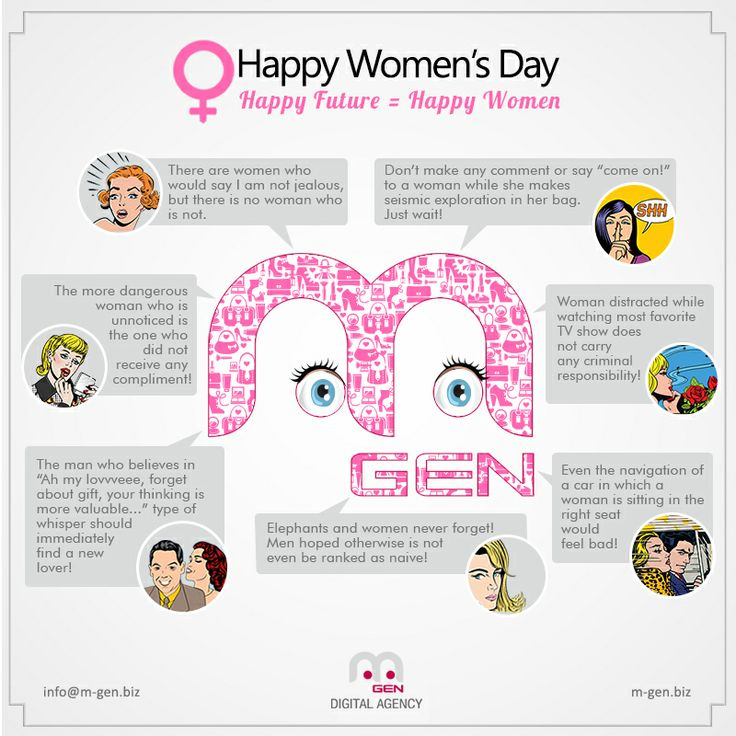 Our notes and advices for Women's Day:)