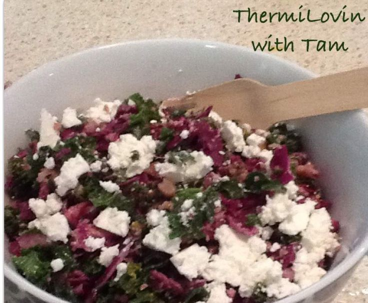 Recipe Kale Crunch Salad by ThermiLovin with Tam - Recipe of category Side dishes