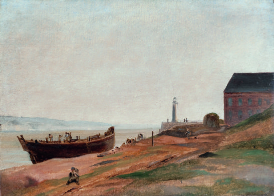 Honfleur, boat-building | Jean-Baptiste Camille Corot [1822-1823]