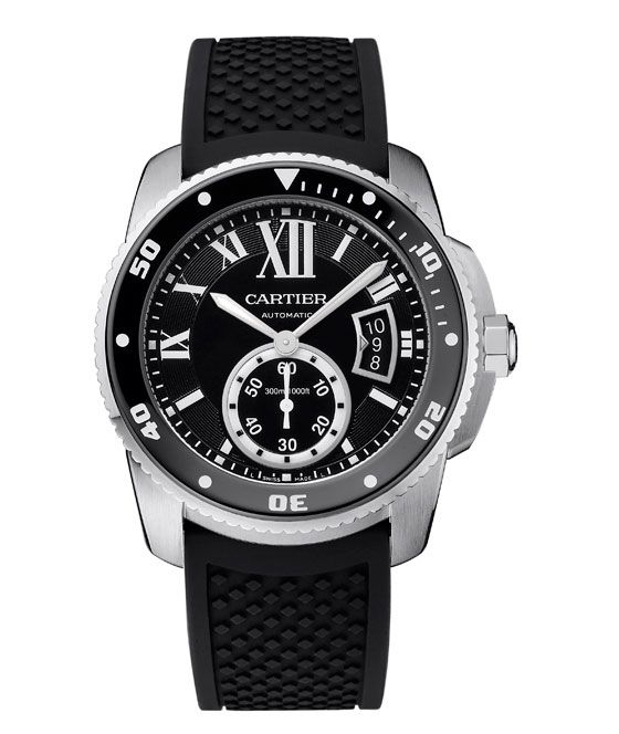 The @cartier Calibre de Cartier Diver watch (shown in steel) meets the challenge of combining the classical Cartier style with the technical requirements necessary to be considered a true divers' watch under the international standard ISO 6425. #cartier #watchtime #divewatch