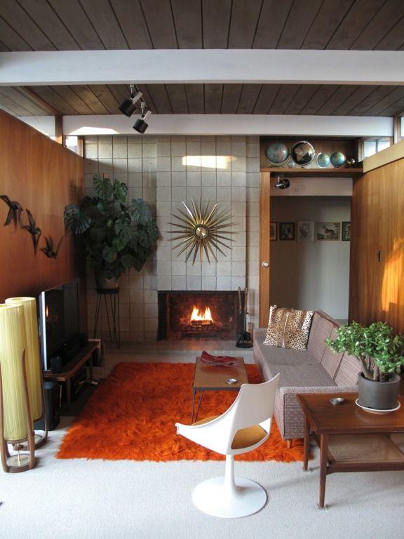 mid century modern living room x1BP7o1Z
