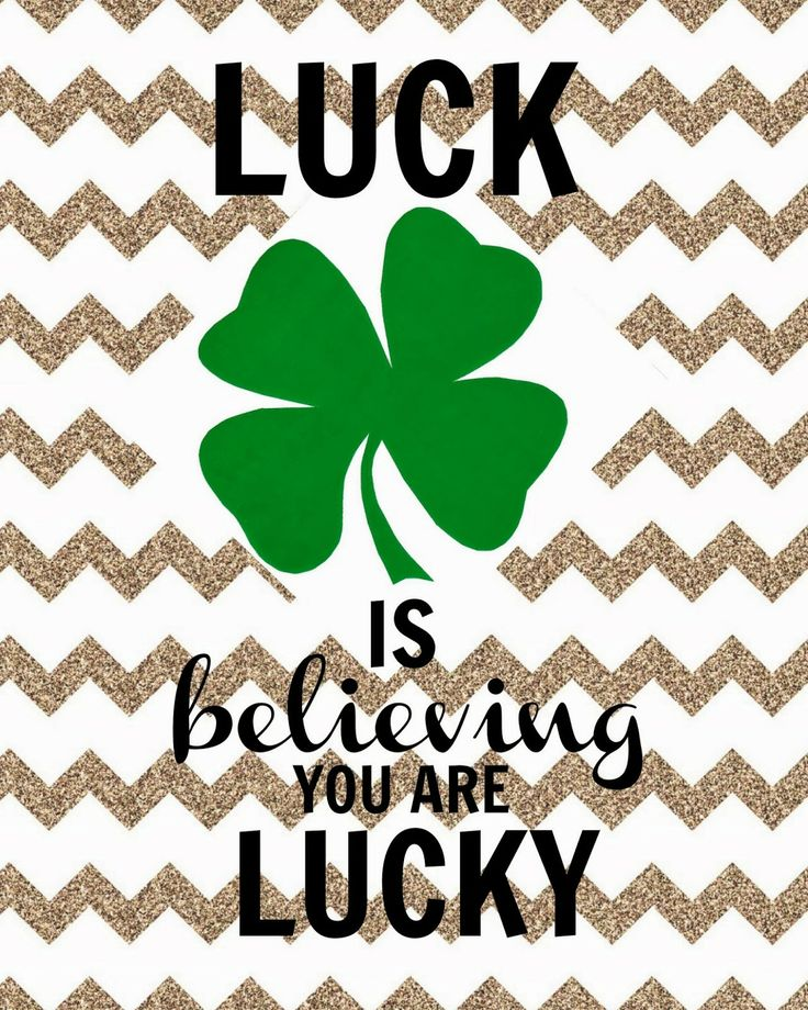 LUCK: St. Patrick's Day Printable {FREE}