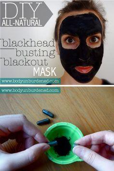 DIY All Natural Blackhead Busting Blackout Mask.