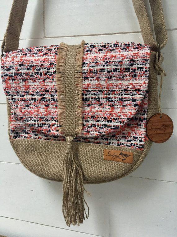 Festival Cross-Body Bag by SandpiperHandcraft on Etsy #purse #handbag #handmade #nautical #bohemian #boho #weaving #tapestry #fashion #style
