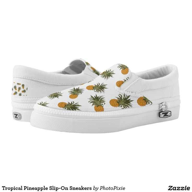 Tropical Pineapple Slip-On Sneakers