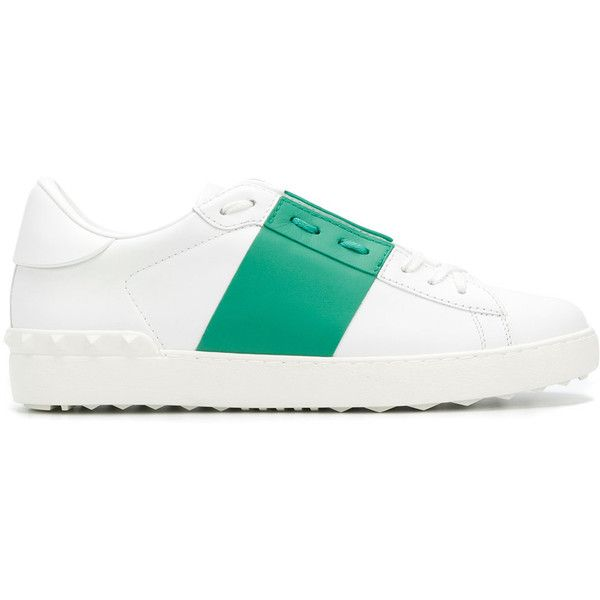 Valentino Leather Sneakers (36.220 RUB) ❤ liked on Polyvore featuring men's fashion, men's shoes, men's sneakers, white, mens white leather sneakers, mens white leather shoes, valentino mens shoes, mens white shoes and valentino mens sneakers