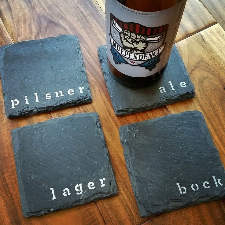 4 Beer Slate Coasters - Man Cave, Garage, Fathers Day, Valentines Day by ScatteredTreasures on Etsy https://www.etsy.com/listing/104660594/4-beer-slate-coasters-man-cave-garage