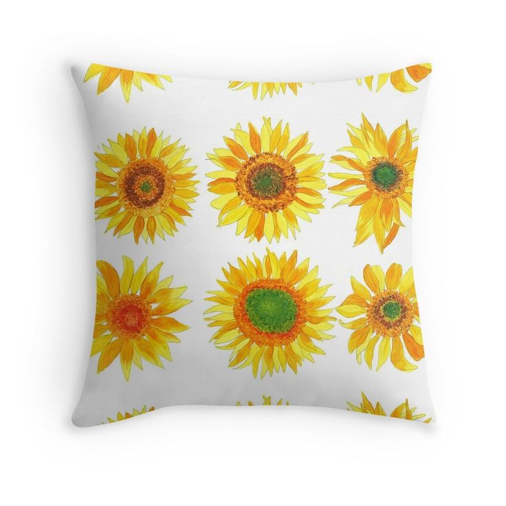Sun flower hand painted pattern