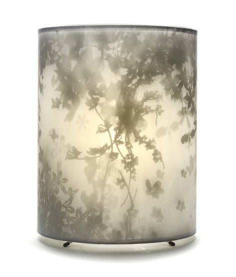 Tord Boontje...Magically transform any room into a fantasy shadow garden of delight with Morning Garden and Spring Garden. Stretched gauze filters halogen-projected images from a fancifully painted mylar interior.