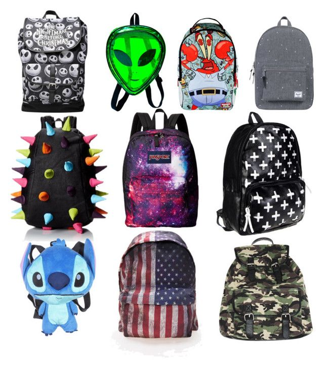 """""""10 backpacks every girl needs"""" by ingrid-saeterdalen on Polyvore featuring Herschel Supply Co., MadPax, JanSport, Disney, Comeco and Wet Seal"""