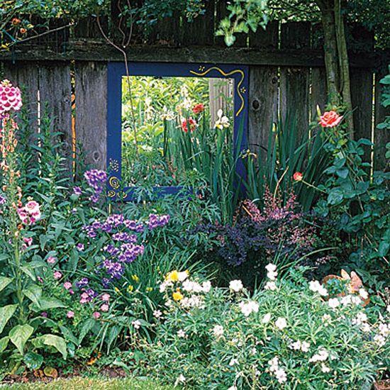 Mirror?: Outdoor Mirror, Flowers Gardens, Mirror Mirror, Gardens Inspiration, Flowers Beds, Gardens Mirror, Frames Mirror, Outdoor Spaces, The Secret Gardens