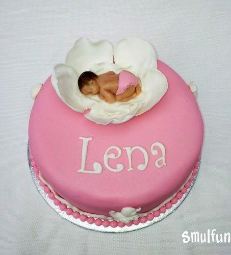baby taart van marsepein
