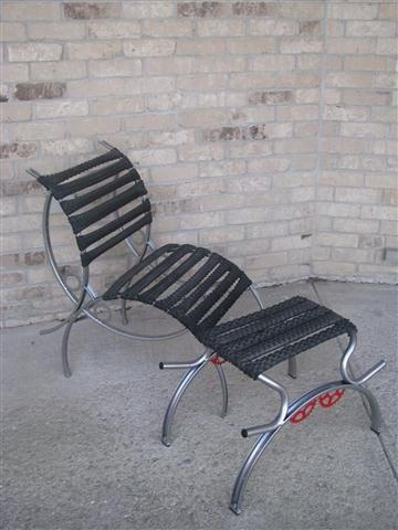Chairs made from recycled bike parts!
