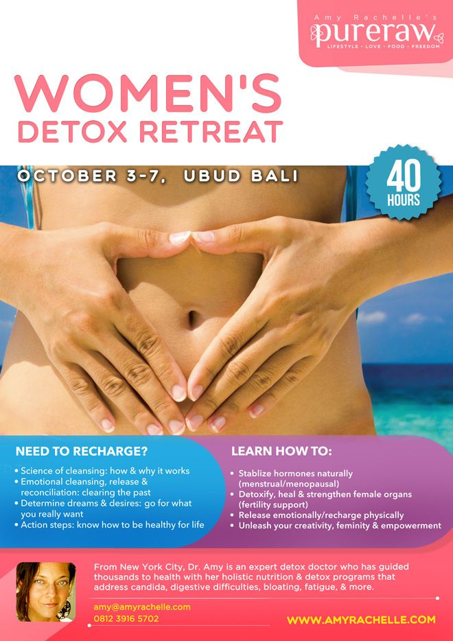We want to support you and your bestie so.... REGISTER, BRING A FRIEND, & GET 50% OFF! Women's Detox Retreat October 3 - 7, 2014
