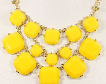 NEW Yellow Necklace,Cluster Necklace,Bubble Necklace,Bib Necklace,Statement Necklace,Bridal Party Necklace-BN0327