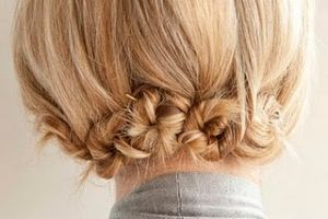 (Simple, small and pretty, twisted updo, great for shorter bob haircuts)